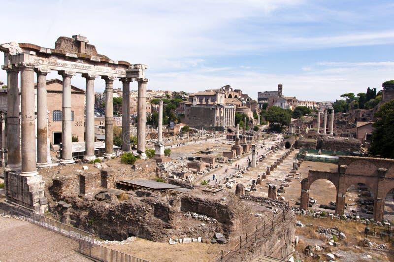 Forum Romanum stock afbeelding