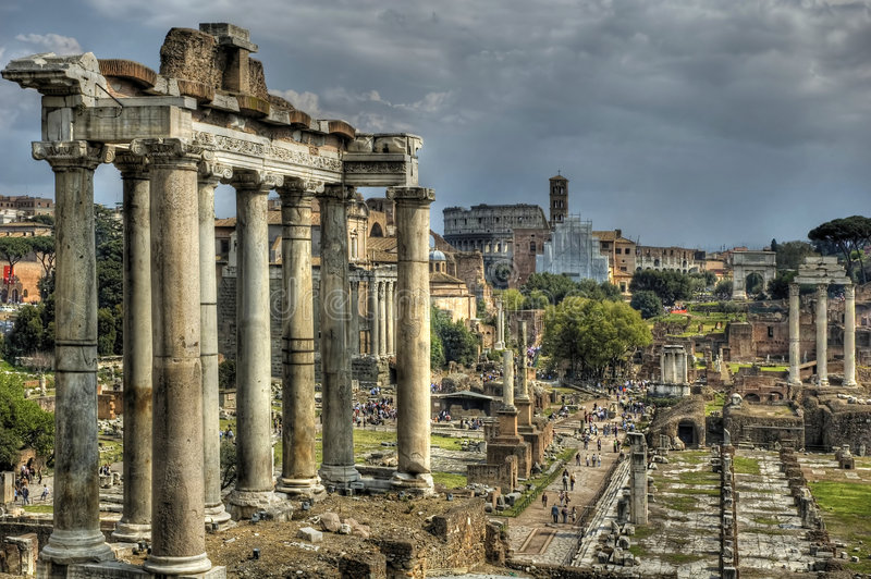 Forum Romanum royalty-vrije stock foto's