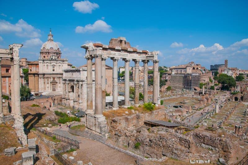 Forum Romanum, Italië royalty-vrije stock foto