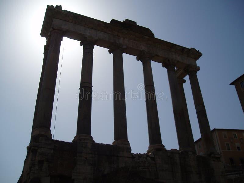 FORUM ROMANUM IN ROME royalty free stock photo