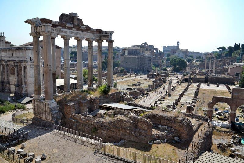 Forum Romanum in Rome, Italië royalty-vrije stock foto