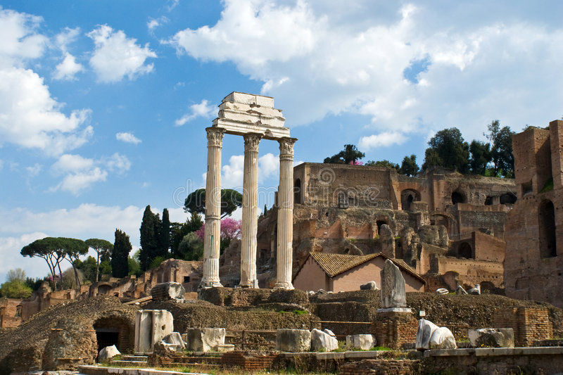 Forum Romanum ruins royalty free stock photography