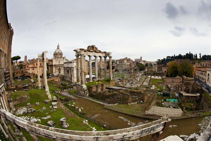 forum romanum Rzymu W?ochy wycieczka obraz royalty free