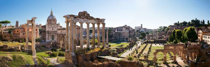 Forum Romanum widok od Kapitolińskiego wzgórza w Włochy, Rzym obraz stock