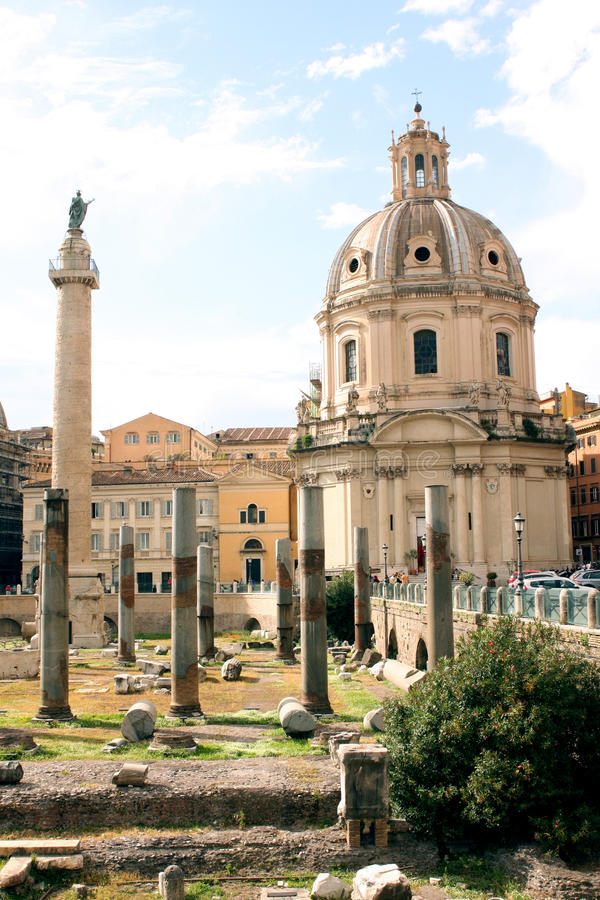 Forum of Rome - Italy royalty free stock photos