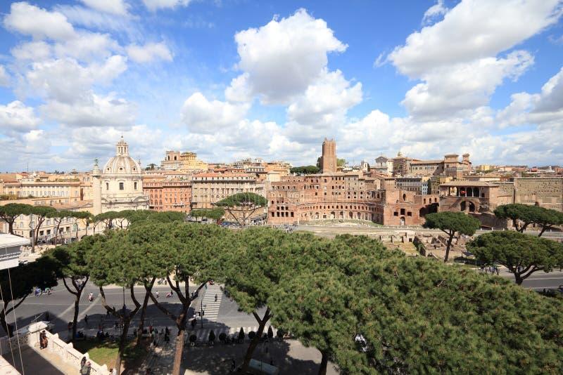 forum Rome trajan fotografia stock