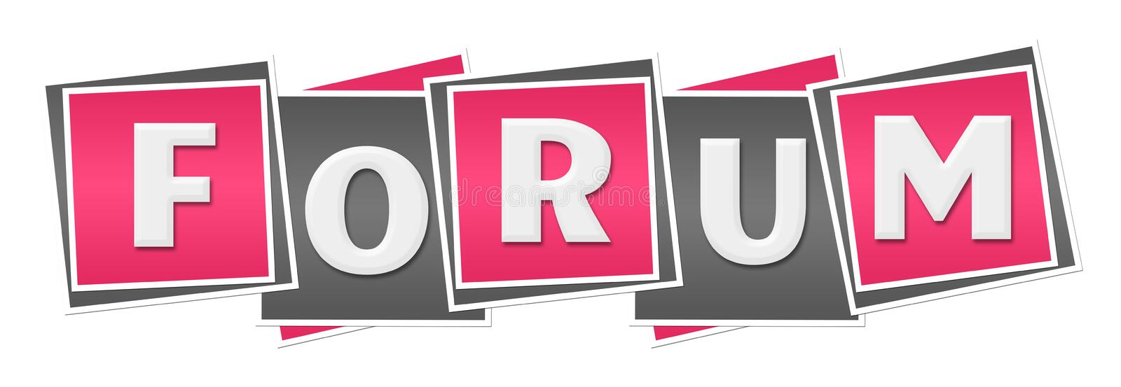 Forum Roze Grey Squares royalty-vrije illustratie