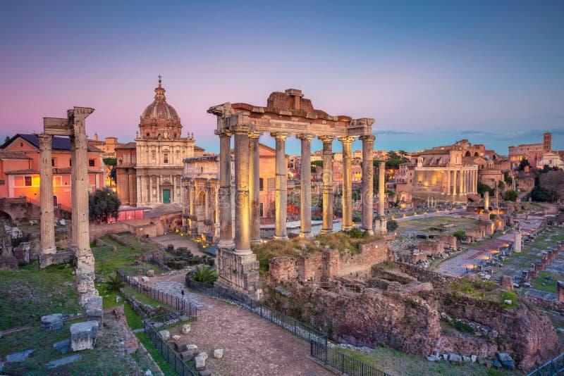 forum rzymski Rome fotografia royalty free
