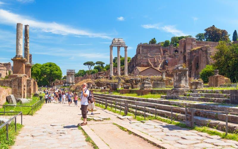 forum rzymski Rome zdjęcia stock