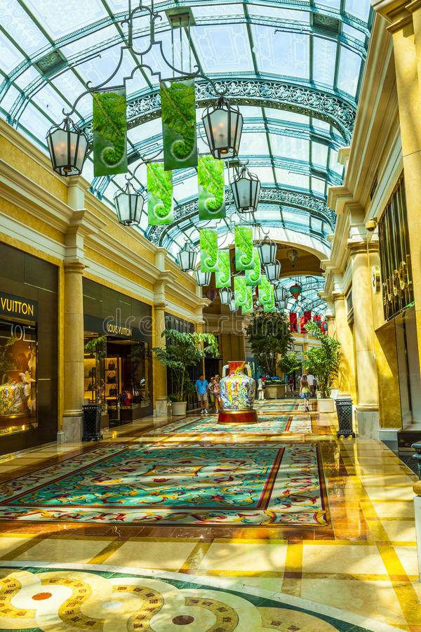 Forum shoppar gallerian i Las Vegas royaltyfria bilder
