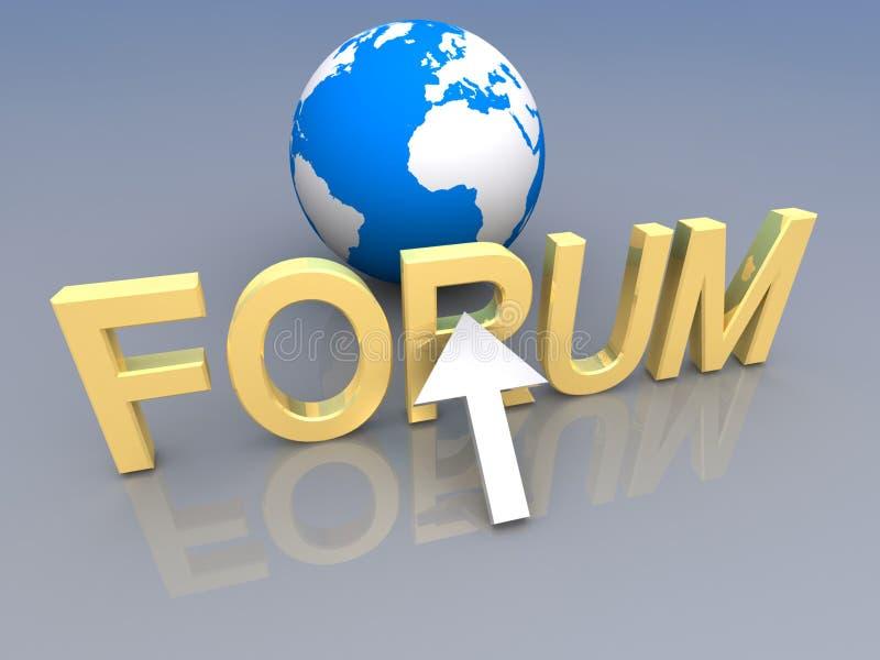 Forum sign royalty free illustration