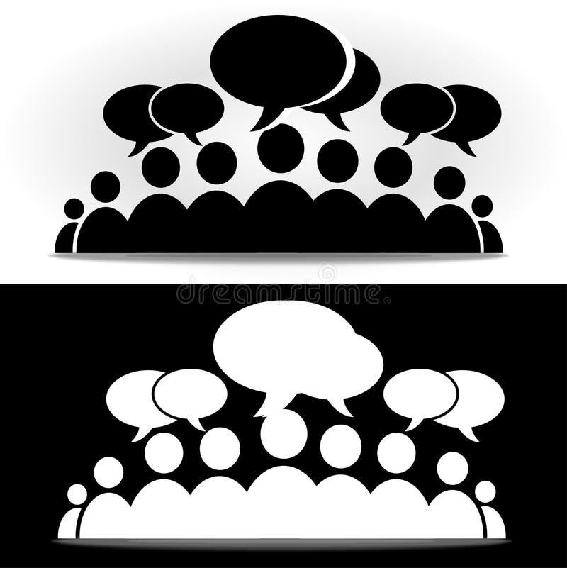 Forum social noir et blanc de la communaut illustration - Smiley en noir et blanc ...