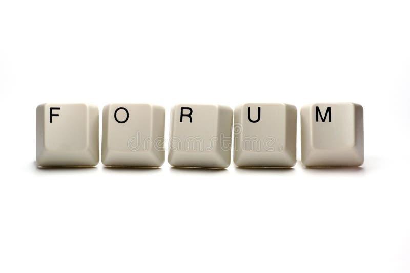 Forum - touches d'ordinateur image libre de droits