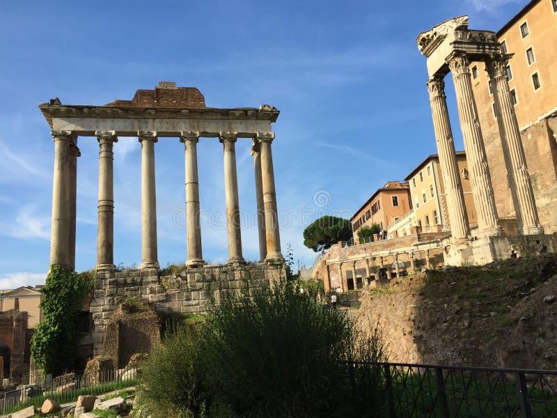 Forum var mitten av dagligt liv i Rome arkivfoto