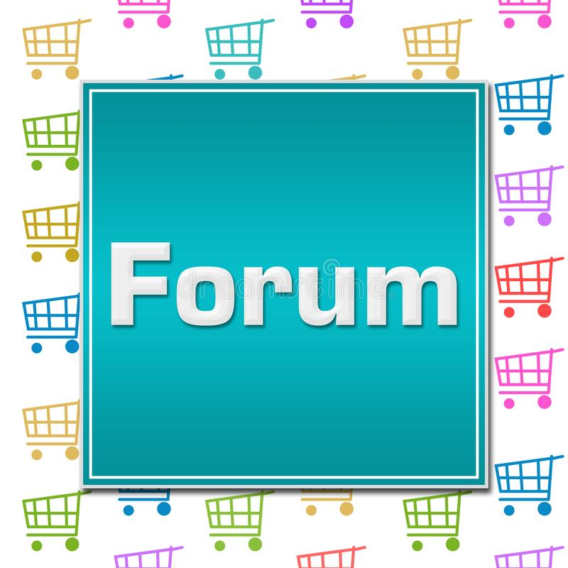 Forum wózek na zakupy tło royalty ilustracja