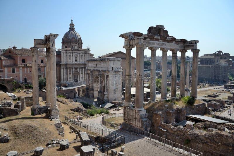 Forum w Rzym Romanum, Włochy zdjęcie royalty free