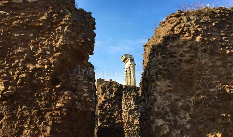 Forum war die Mitte des Alltagslebens in Rom stockfoto
