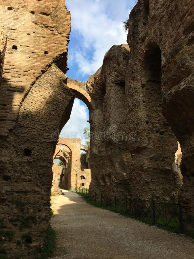 Forum war die Mitte des Alltagslebens in Rom stockbilder