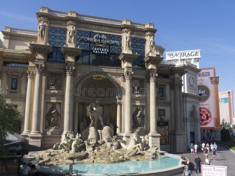 Forumet shoppar på Caesars, Las Vegas, USA arkivbilder