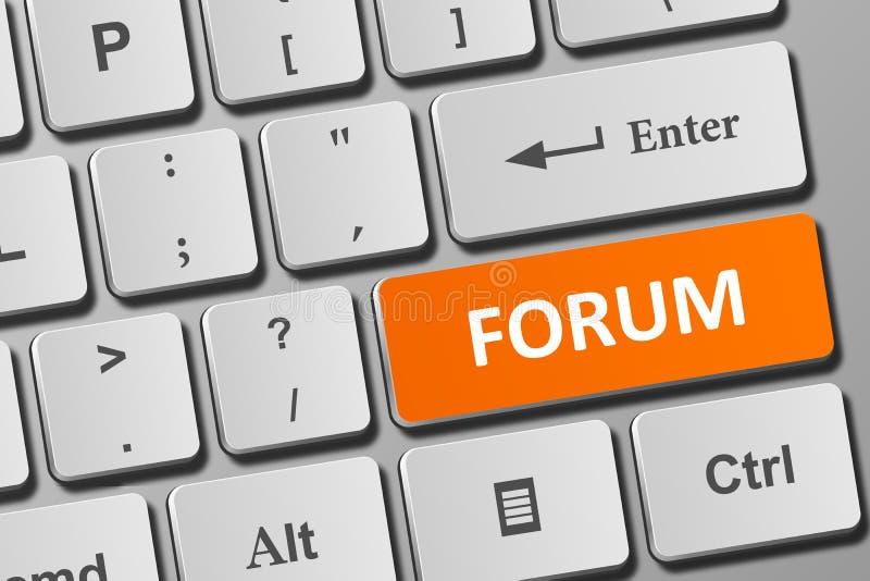 Forumknoop op toetsenbord vector illustratie