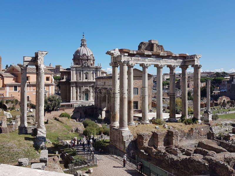 Forumru?nes in Rome royalty-vrije stock foto's