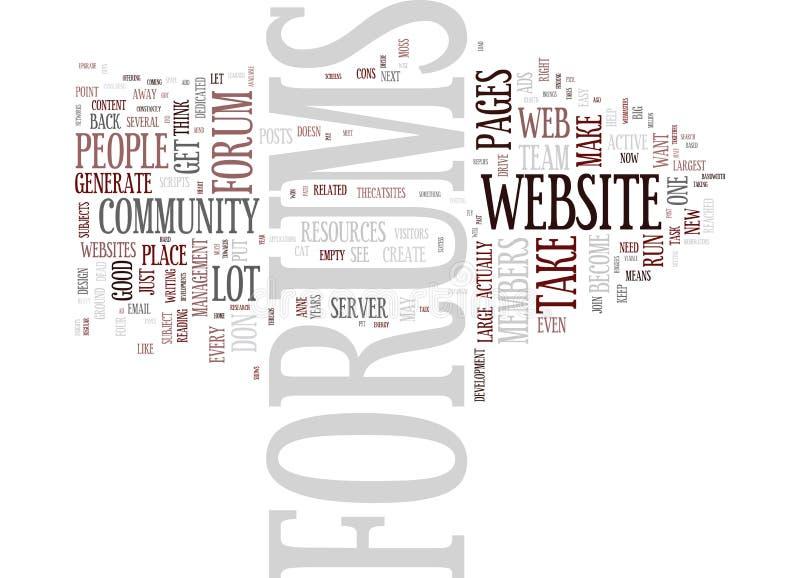 Forums indien u hen op Uw Websiteword Wolkenconcept hebt stock illustratie