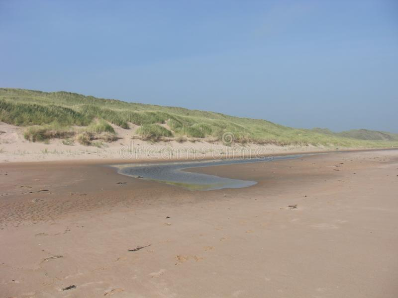 Pristine Nature - Sands of Forvie and Tickle Flow on the Beach in Newburgh, Aberdeenshire, Scotland stock photos