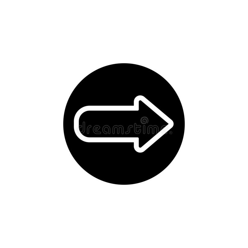 Forward and back or undo icon in circle, arrow icon. Simple glyph, flat vector of Web icons for UI and UX, website or mobile stock illustration