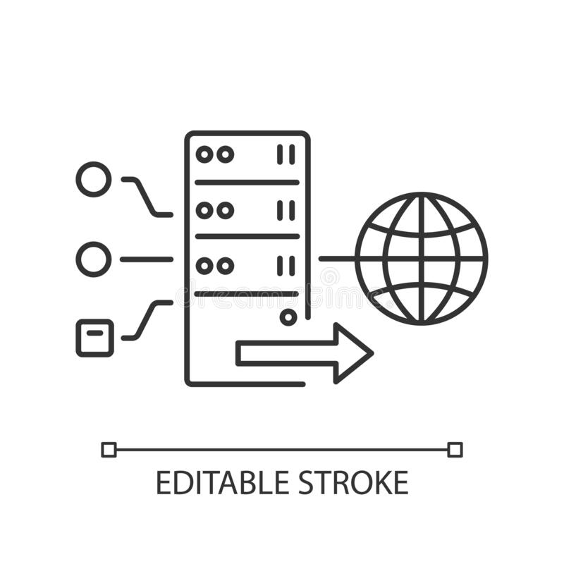 Linear Proxy Server Icon From Internet Security And