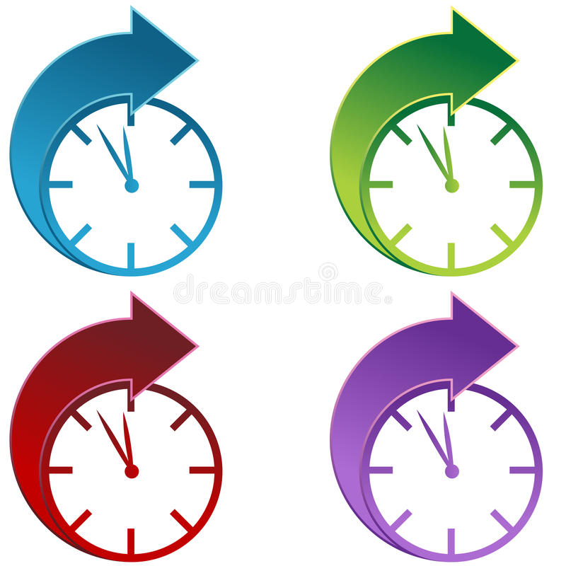 Download Forward Time stock vector. Image of icon, clock, years - 12591411