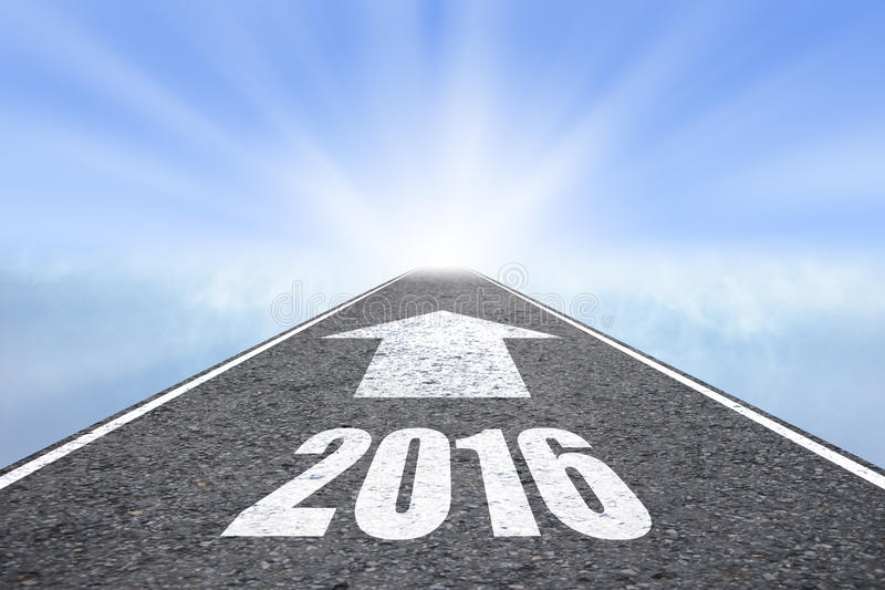 Forward to 2016 new year concept royalty free stock images