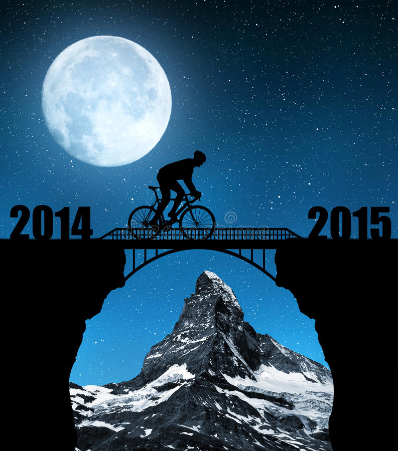 Forward to the New Year 2015 royalty free stock photography