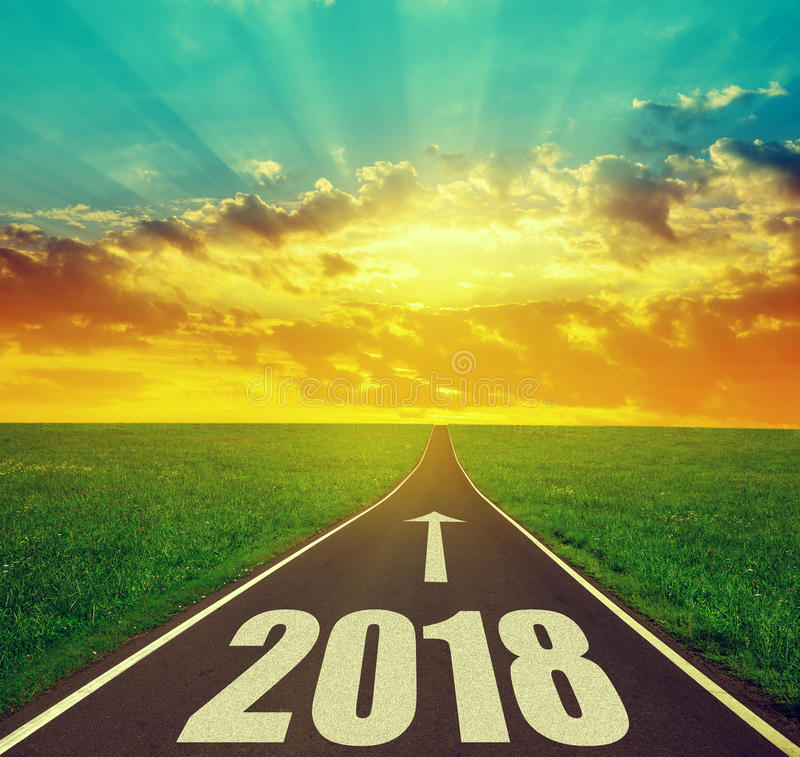 Forward to the New Year 2018 stock images