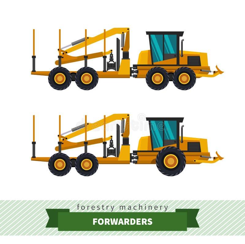 Forwarder leśnictwa pojazd ilustracji