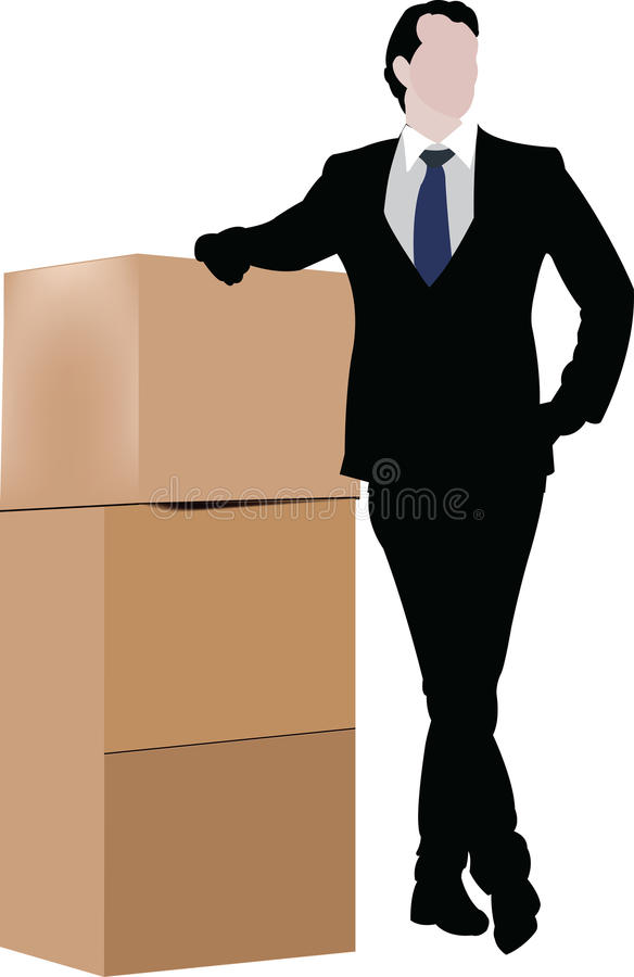 Forwarder odpoczywa pudełka ilustracji