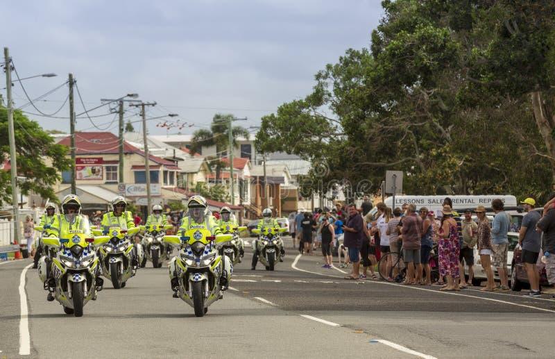 Forza di polizia della motocicletta del Queensland fotografia stock libera da diritti