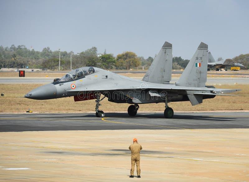Forza Sukhoi-30 MKI di Airt dell'indiano immagini stock