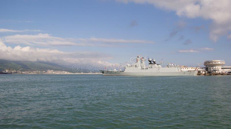 Forze navali delle fregate del missile della Repubblica Cinese fotografia stock libera da diritti