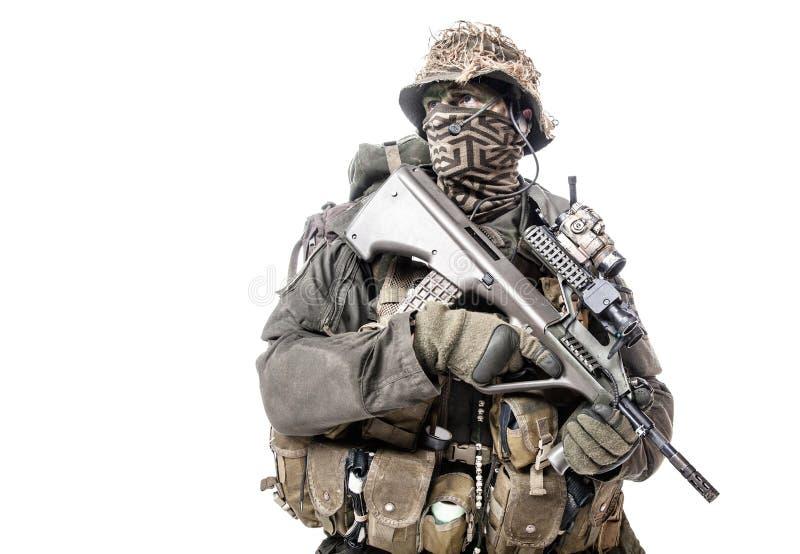 Forze speciali di Austrian del soldato di Jagdkommando fotografia stock