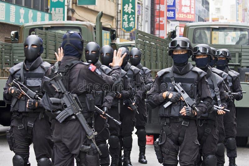 Forze speciali disperse nell'aria della Taiwan immagini stock libere da diritti