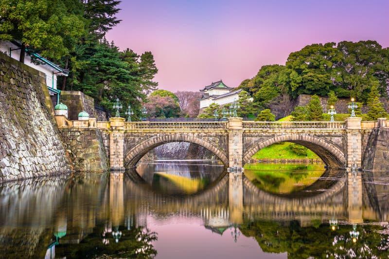 Fosa imperial del palacio de Tokio foto de archivo