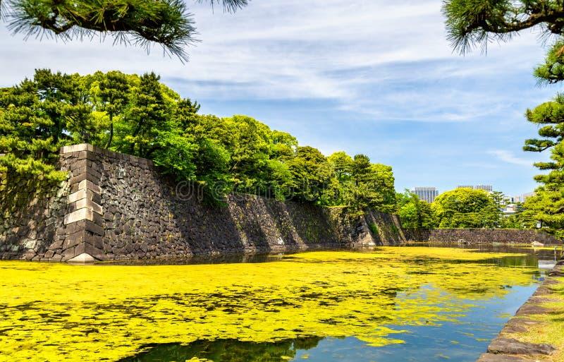 Fosa wokoło Cesarskiego pałac w Tokio obrazy stock
