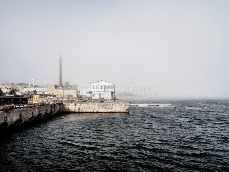 Foschia della primavera sopra il Mar Baltico 2 immagine stock