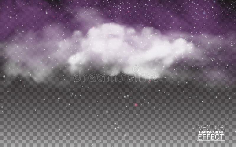 Foschia di opacità di vettore o fondo bianca dello smog Effetto speciale trasparente del fumo o della nebbia Illustrazione di vet royalty illustrazione gratis