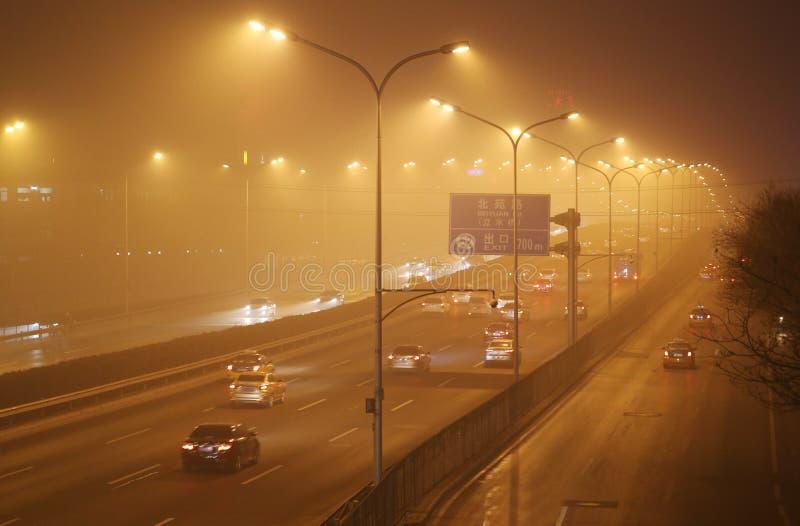 Foschia di Pechino immagini stock libere da diritti
