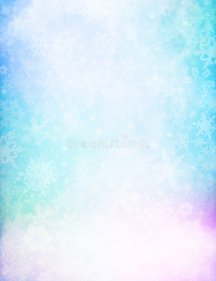 foschia e neve di Ciao-chiave immagine stock