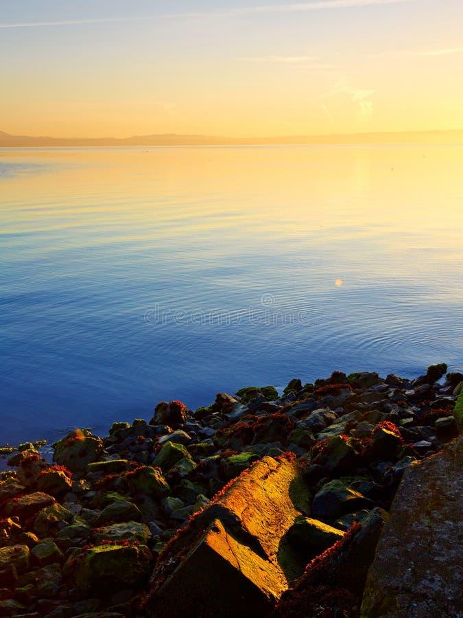 Foschia San Francisco Bay fotografie stock