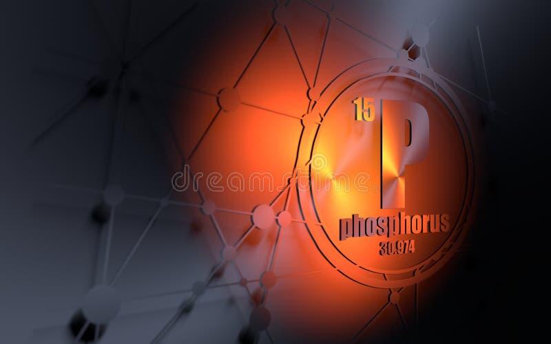 Fosfor chemisch element royalty-vrije illustratie