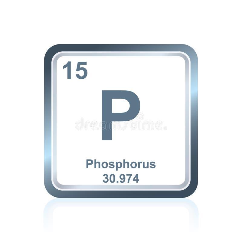 Fosfor för kemisk beståndsdel från den periodiska tabellen royaltyfri illustrationer