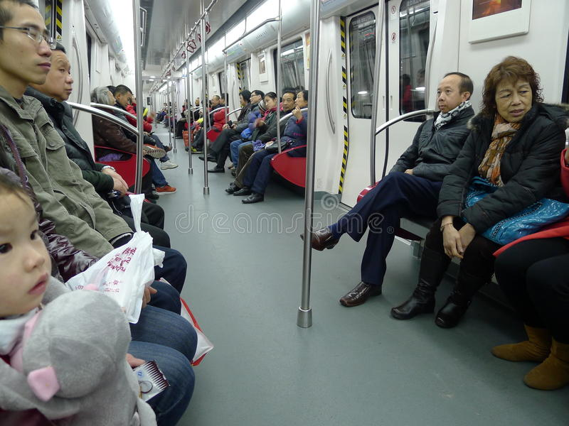 Foshan metro interior. Foshan,guangdong,China royalty free stock photo